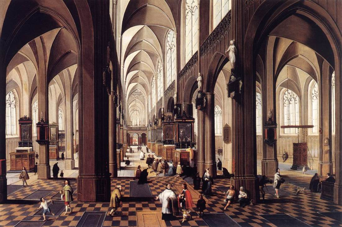 Peeter_Neeffs_(II)_-_Interior_of_Antwerp_Cathedral_-_WGA16482