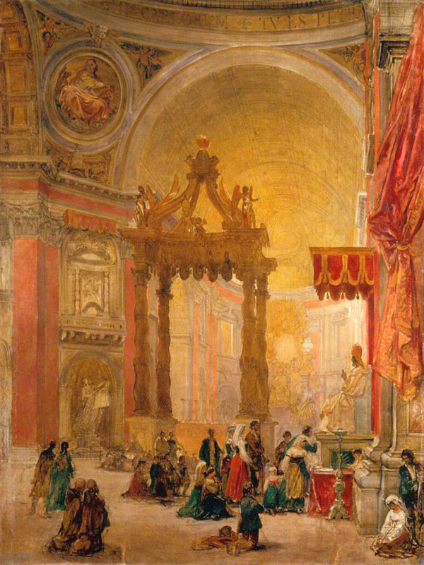 david roberts - interieur de saint pierre rome - government art collection - 1853-1854.jpg
