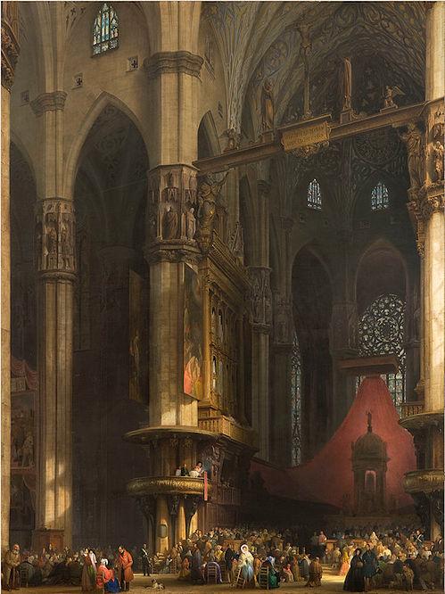 Interior Bisi_Luigi,_Interno_del_Duomo_di_Milano 1840