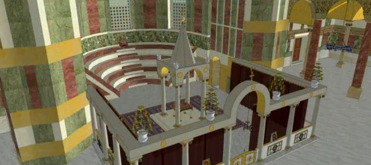 Reconstitution-du-sanctuaire-de-Sainte-Sophie-à-Constantinople-vue-de-dessus-notez-la-présence-du-ciborium-au-dessus-de-lautel-le-sanctuaire-est-fermé-par-les-colonnes-du-templon.jpg