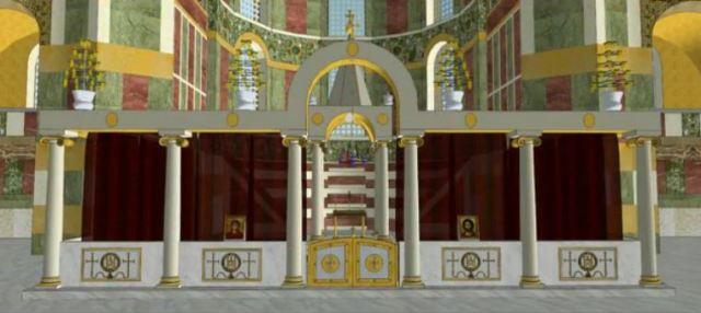 Reconstitution-du-sanctuaire-de-Sainte-Sophie-à-Constantinople-vue-de-face