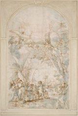 Quarante-Heures-avec-le-Retour-des-explorateurs-du-pays-de-Canaan-par-Giacinto-Calandrucci