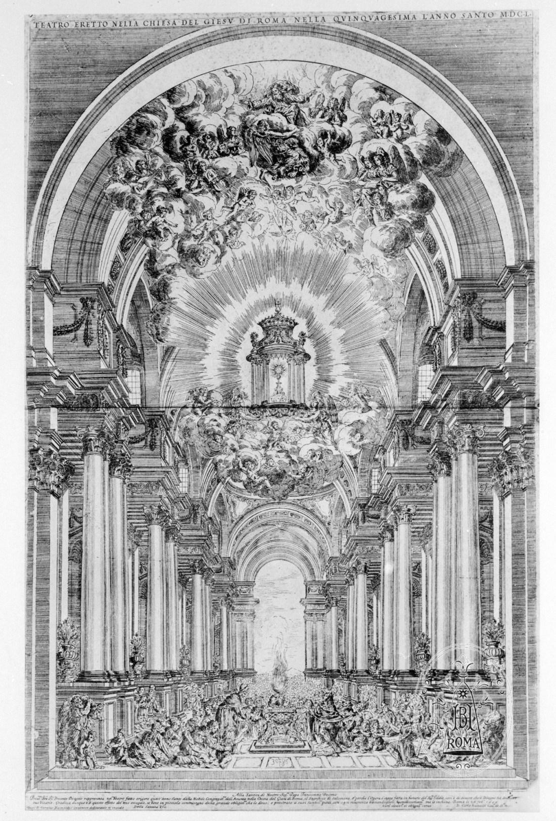 Quarante-Heures-en-1650-dans-léglise-jésuite-du-Gesù-à-Rome