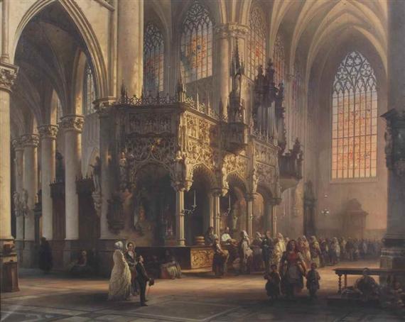 Interior Jules Victor Genisson, Vue intérieure de l'eglise de Saint- Gommaire