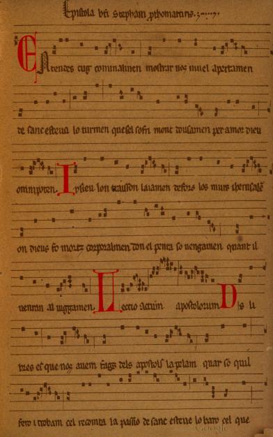 A Farced Epistle of Saint Stephen in Old Provençal