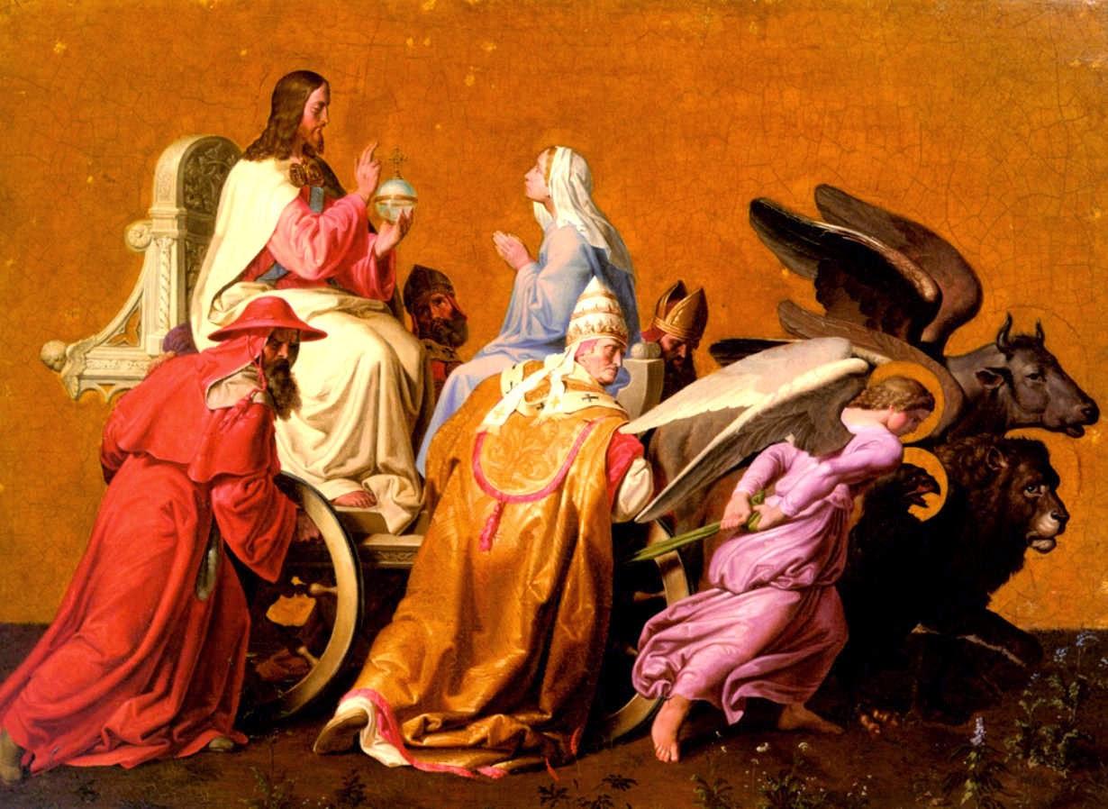 Der Triumph Christi - 1836 - Joseph von Fuehrich - Joseph von Fuehrich - German Romanticism - Deutschland und die Ostmark - germany and Austria - Peter Crawford